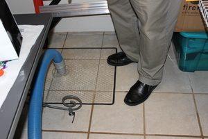 Sewage Backup Floor Tile Restoration