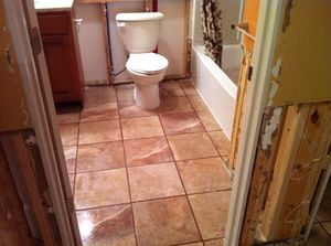 Mold And Water Damage Cleanup In Bathroom