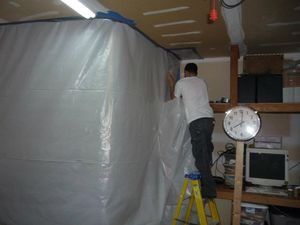 Water Damage Restoration Sealing In Mold With A Vapor Barrier