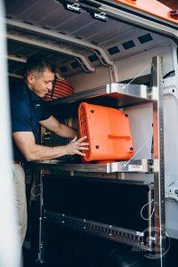 911Restoration-unloading-truck- St charles